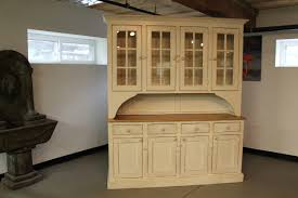 rustic hutch dining room: rustic hutch from reclaimed wood in buttermilk paint color