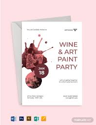 Paint Net Templates Download 4 Paint Party Invitation Templates Word Psd