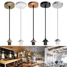 details about e27 ceiling rose light pvc fabric flex pendant lamp holder fitting lighting