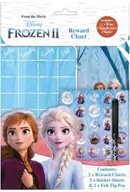 Details About Disney Frozen 2 Wipe Clean Childrens Reward Charts With Stickers Pen