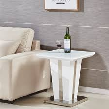 memphis lamp table square in white high