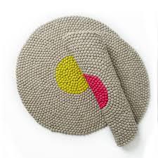 round wool felt rug