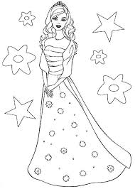 barbie doll the princess charm coloring page