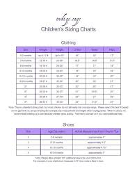 24 Months Size Chart Childrens Sizing Chart Crochet Clothes Baby Sewing