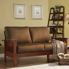 Hills Mission-Style Oak Loveseat by iNSPIRE Q Classic by iNSPIRE Q