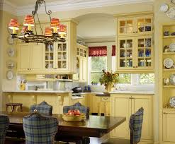 Contemporary Yellow Country Kitchens E And Simple Design