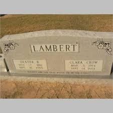 Dexter B Lambert (1911-1983) - Find A Grave Memorial