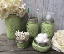 Mason Jar Bathroom Set,Ball Mason Jar,Toothbrush Holder,Housewarming  Gift,Wedding
