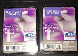 better homes gardens tropical plumeria petals scented wax cubes 2 packs