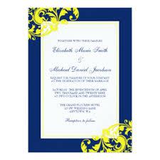 yellow wedding invitations, 9400 yellow wedding announcements Wedding Invitations Navy And Yellow navy blue and yellow flourish swirls wedding card navy blue and yellow wedding invitations