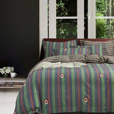navy blue orange and lime green vertical stripe plaid and mushroom print unique s full queen size bedding sets