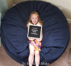 making your own giant bean bag is the way to go these comfy foam filled chairs cost upwards of 300 to new and by making one yourself