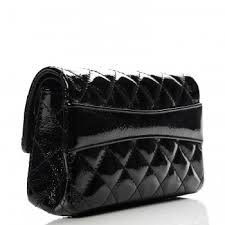 CHANEL Patent Quilted Reissue Flap Clutch Bag Black 218241 & CHANEL Patent Quilted Reissue Flap Clutch Bag Black. Pinch/Zoom Adamdwight.com