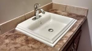 sumptuous design ideas overmount bathroom sink how to install an you sinks vs undermount over mount granite kohler