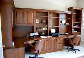 ... Custom Built Office Cabinets Built In Home Office Furniture Cabinets L  Shaped Wooden ...