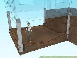 dig out a basement in an existing house