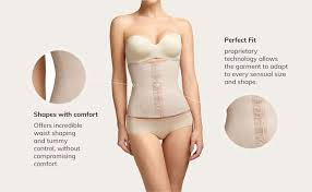 Squeem Perfectly Curvy Womens Firm Control Strapless Waist Cincher