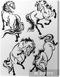 Obraz Sada S Koněm Tetování Na Plátně