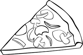 pizza slice clipart black and white. Pepperoni Pizza Slice And Clip Art On Clipart Black White Allfreedownloadcom