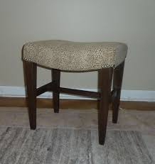 custom made curved vanity stool