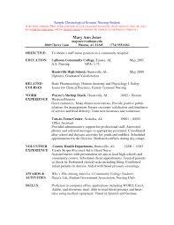 Tips For Student Nurse Resume Medical Resum