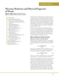 Pdf Moisture Relations And Physical Properties Of Wood