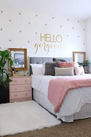 Surprise Teen Girl's Bedroom Makeover. Pink NightstandsTeen Bed Room ...