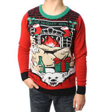 Ugly Christmas Sweater Teen Boy\u0027s One Night Only LED Light Up Men\u0027s Sweaters - Sears