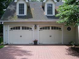 almond garage doorCHI Overhead Doors model 5632A Steel Carriage House Style