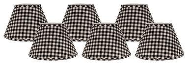 black and white check 4x6x525 shade set of 6 clipon