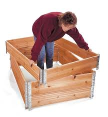 stacking corners for raised bed or