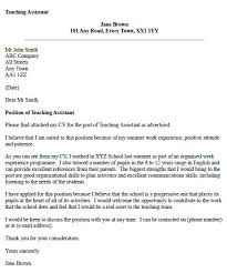 teaching assistant cover letter example educational cover letters