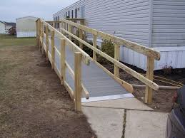 image of wheelchair ramps for stairs photo