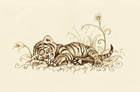 baby tiger drawing tattoo. Perfect Baby Baby Tiger Drawing Tattoo  Photo4 Intended Tiger Drawing Tattoo R
