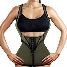 Yamadan Neoprene Underbust Waist Trainer Sweat Zipper Vest Weight Loss Body Shaper For Women