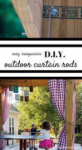 diy curtain rods for your pergola outdoor entertaining area