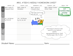 Homework Sheet Template For Teachers Free Homework Sheet Templates At Allbusinesstemplates Com