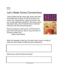 best holes images louis sachar teaching reading  this is a very simple and fun activity to help students make text to