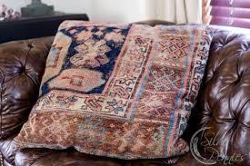 worn oriental rug pillow