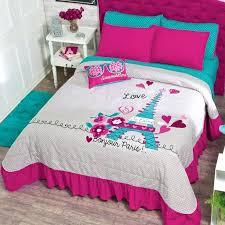 eiffel tower bedding pink bedspread set tower for girl guarantee free eiffel tower bedding set