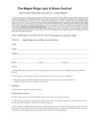 Vendor Contract Agreement Vendor Contract Agreement Vendor Contract Template Contract 1