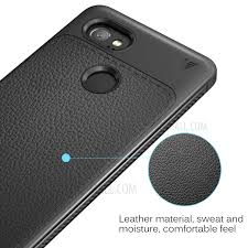 ivso gentry series leather coated tpu back case for google pixel 2 xl black