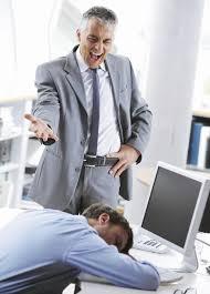 boss shouting employee