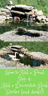 Pond Edges Design Adding A Pond Step 4 Add A Decorative Rock Border Rock