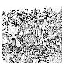 Free Coloring Page Coloring The Beatles