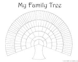 Blank Family Tree 4 Generations Family Tree Template Vector Illustration Leaf Leaves