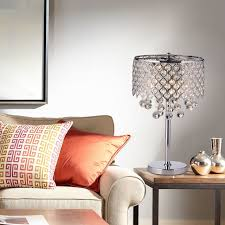 bedroom table lamps lighting. chrome round crystal chandelier bedroom nightstand table lamp 3light fixture lamps lighting