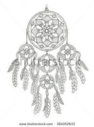 Small Picture Dreamcatcher Coloring Page Stock Illustration 381851098 Shutterstock