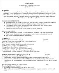 Gallery Of 6 Legal Administrative Assistant Resume Templates Free