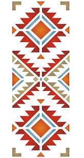 Navajo Pattern Extraordinary Navajo Four Corners Stencil Tatoo Ideas Pinte